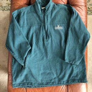Guinness 1/2 Zip Twill Pullover Pockets Large